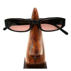 Vintage Emporio Armani Black Oval Sunglasses